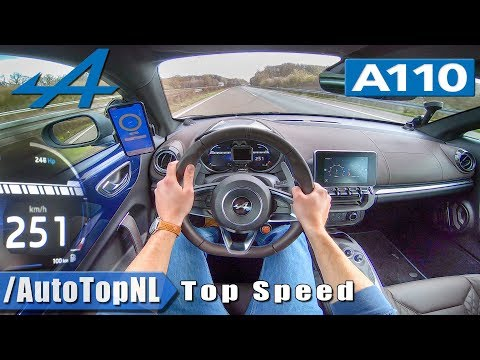 ALPINE A110 AUTOBAHN POV 251km/h TOP SPEED By AutoTopNL