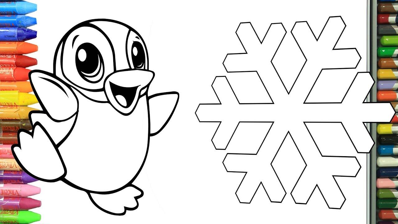 Cómo Dibujar Y Colorear Pingüino Nieve Y Iglú Dibujos Para Niños