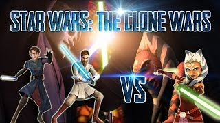 Star Wars: The Clone Wars | Obi-Wan & Anakin Skywalker VS Ahsoka Tano | Español Latino HD