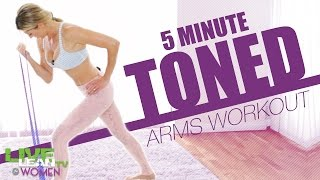 5 Min Toned Arms Stretch Band Workout