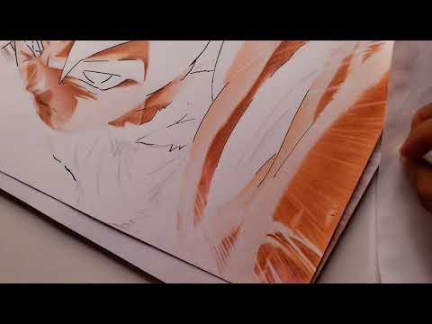 como pintar a goku ultra instinto (paso a paso EXTREMO)/ultra instinct