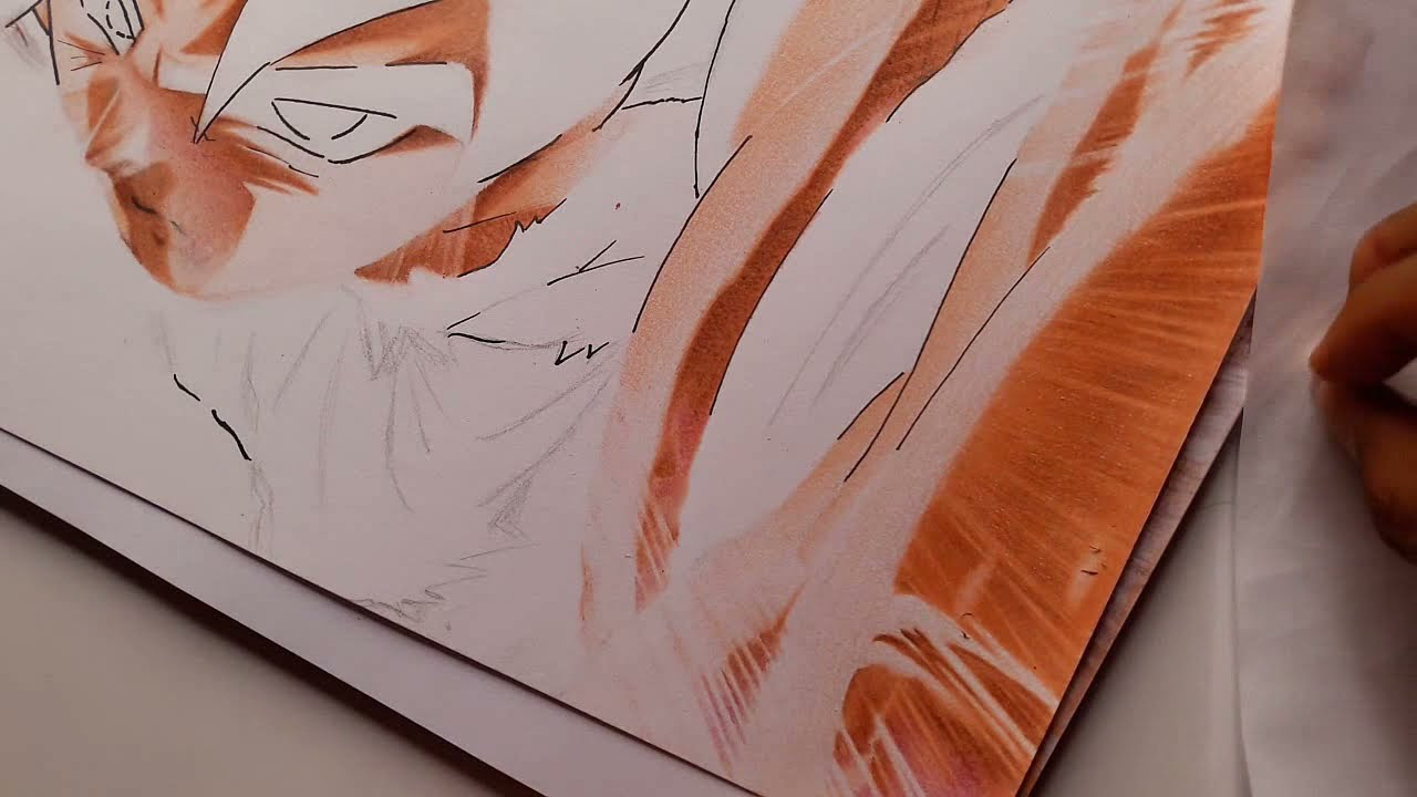 Como Pintar A Goku Ultra Instinto (paso A Paso EXTREMO