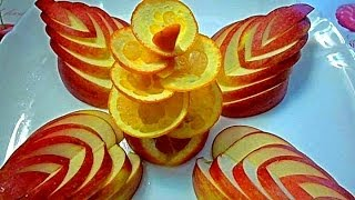 Украшения из яблока и апельсина. Как красиво оформить стол. Decorations of fruits(Делаем все простым ножом. Цветы из апельсина и яблока быстро и легко! My page on Facebook Моя страница на Facebook https://www...., 2014-01-04T03:35:25.000Z)