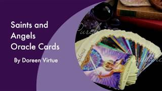 GOING THROUGH 'SAINTS & ANGELS ORACLE CARDS | Purely Therapeutic