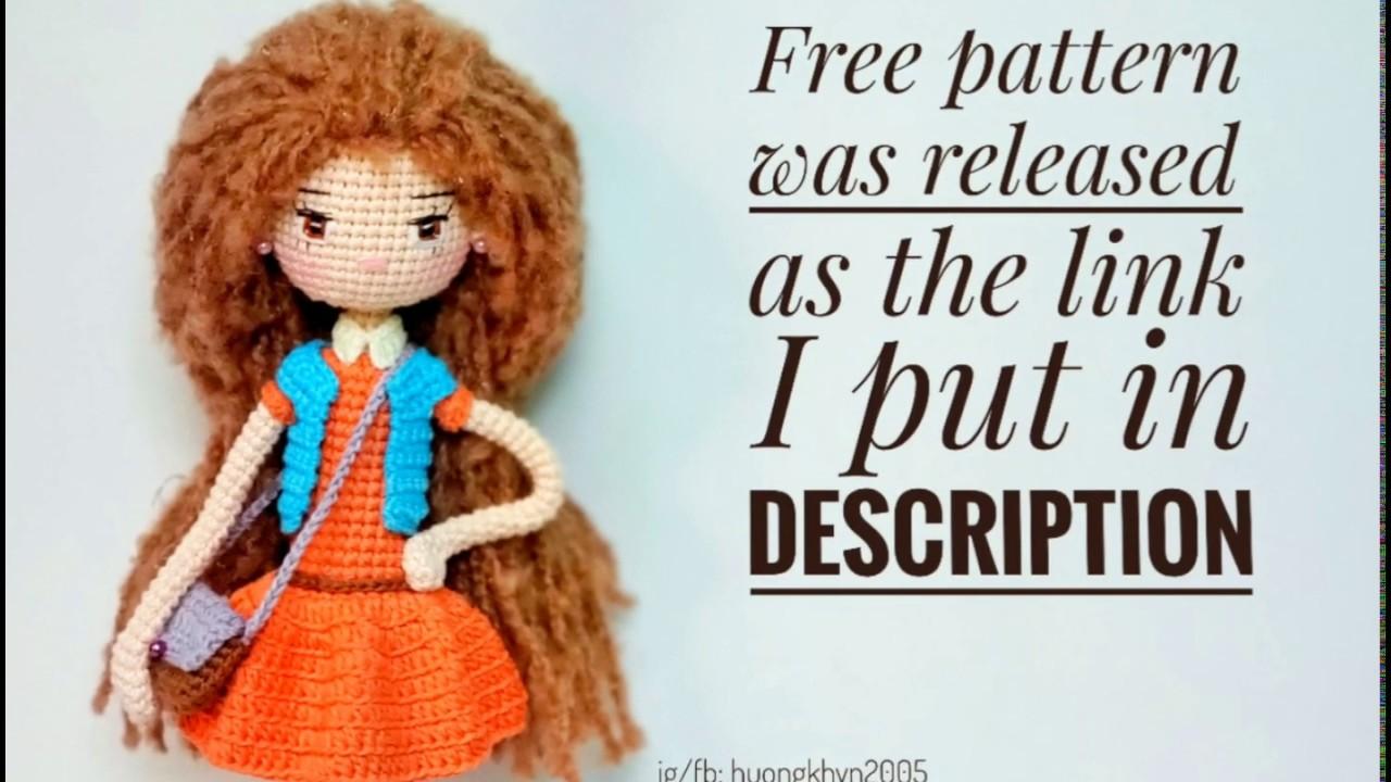 Free Crochet Doll Pattern- The Friendly Grace - thefriendlyredfox.com   720x1280