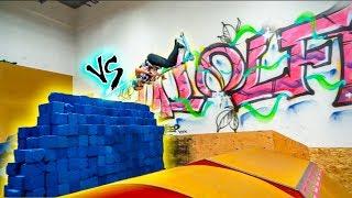 SCOOTER vs. FOAM PIT WALL!