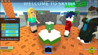Playing Roblox Skywars! (pt11)