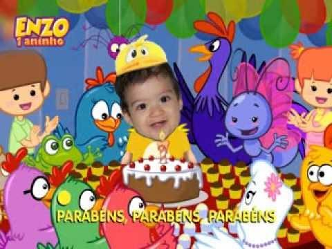 Enzo 1 Aninho Parabéns Galinha Pintadinha Youtube