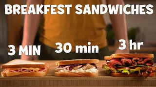 3-Minute Vs. 30-Minute Vs. 3-Hour Sandwich