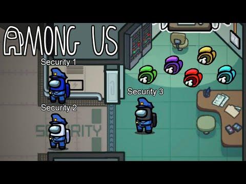 Security Guard Challenge on AMONG US!