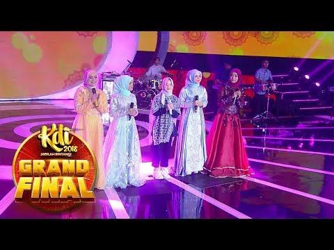 Duet Syantik! Ikke Nurjanah, Sabyan, Cut, Putri Dan Nida [YA MAULANA] - Grand Final KDI (2/10)