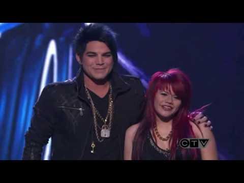 Adam Lambert & Allison IrahetaAmerican Idol Top 4 Slow RideHD