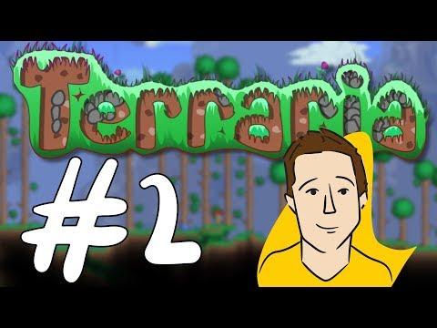 Let's Play! - Terraria BLIND (Part 2 - I DUG A HOLE!)