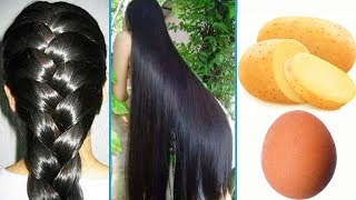 How To Grow Long and Thicken Hair Faster With Potato & Egg !! Super Fast Hair Growth Challenge!