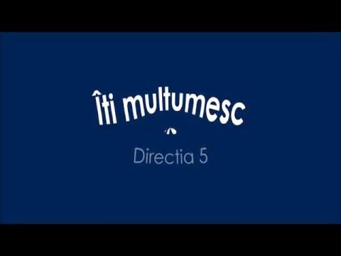 Directia 5 - Iti multumesc Versuri