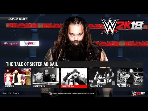 WWE 2K18 Story - The Tale of Sister Abigail & Bray Wyatt - PS4/XB1 Gameplay Concept (GTA 5 Mods)