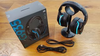 Logitech G935 BEST WIRELESS GAMING HEADSET Unboxing and Complete Setup