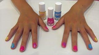 Лена красит ногти как сделать красивый маникюр colored nails