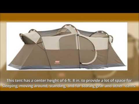 Coleman WeatherMaster 10 Person Hinged Door Tent & Coleman WeatherMaster 10 Person Hinged Door Tent - YouTube