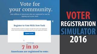 VOTER REGISTRATION SIMULATOR 2016 | How to register to vote in New York