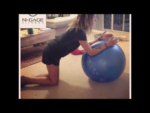 Stability Ball Core and Glute Workout