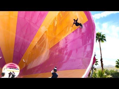 Skateboarding Empty Waterpark - Tony Hawk, Daewon Song, Jaws - RAW Footage