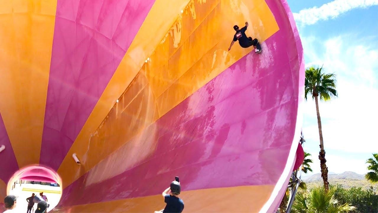 Download Skateboarding Empty Waterpark - Tony Hawk, Daewon Song, Jaws - RAW Footage