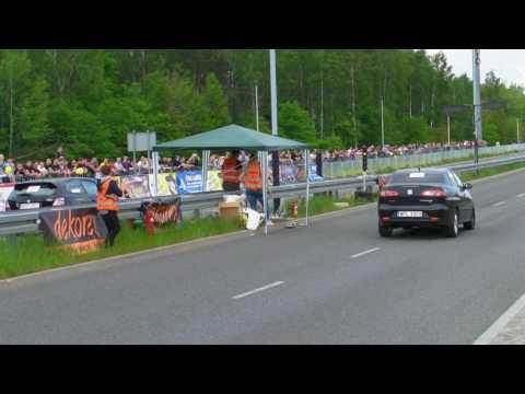 Seat Cordoba 1.9TDI vs Honda Civic VII TypeR 2.4 1/4 mile ORGANIKA Speed Racing