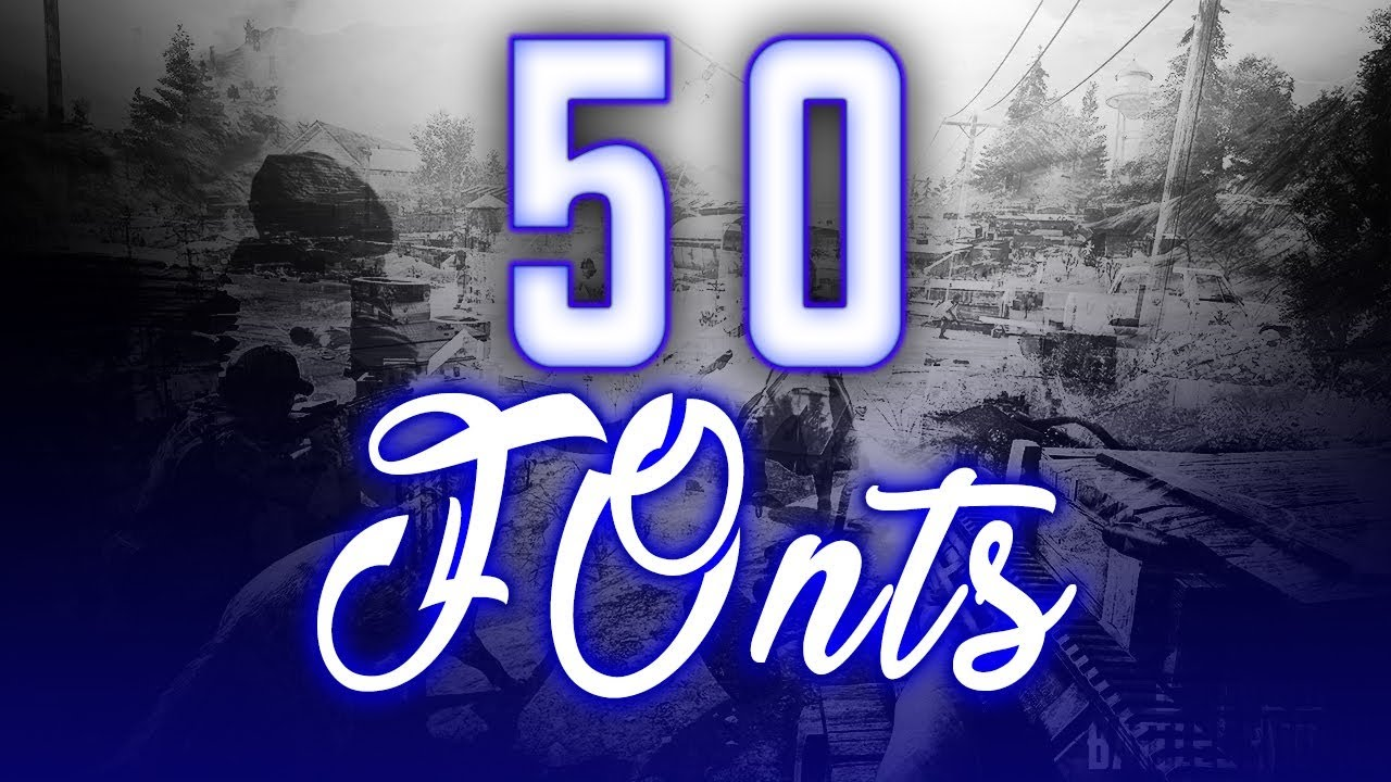 Download TOP 50 Fonts Pack For Gfx Design | Download Now | Font ...