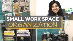 Small Work Space & Desk organization | Home Office India | Office Decor Ideas