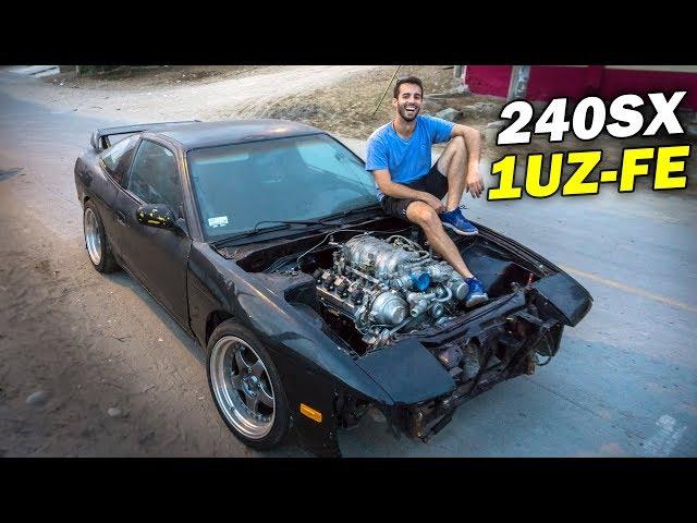ARMANDO MI 240SX con MOTOR V8 en 10 MINUTOS!!