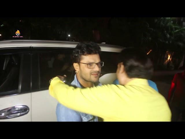 ख़ेसारीलाल यादव की GRAND ENTRY For Upcoming Bhojpuri Movie DUNIA Muhurat