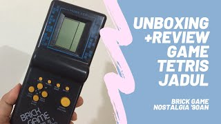 Unboxing Review Game Tetris Jadul Gimbot Brickgame Nostalgia Permainan Gamewatch Generasi 90an Youtube