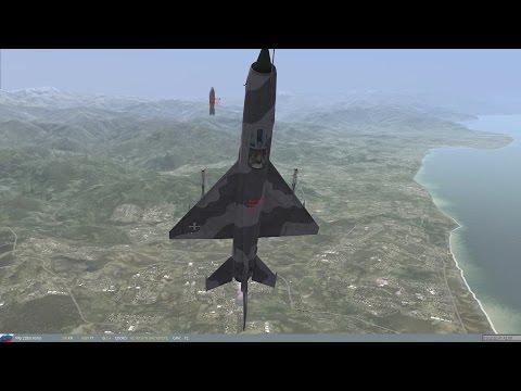 DCS, Mig 21, Tactical Nuclear strike, 110 deg toss bomb, RN-24. Tacview.
