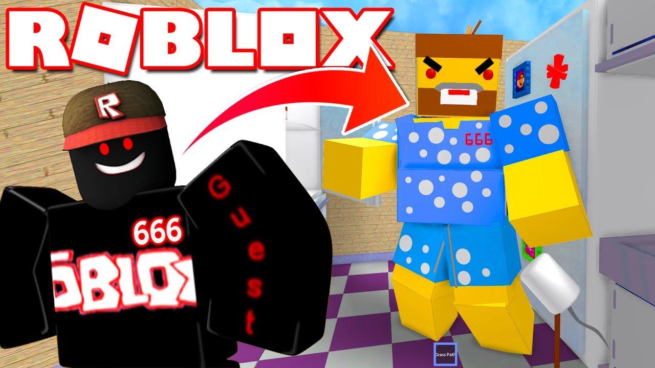 Roblox Căn Bếp Khổng Lồ Của Gã Guest 666 Escape The