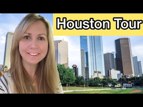 Houston Downtown Sightseeing Tour 4K ~  Downtown Tunnels ~ Discovery Green