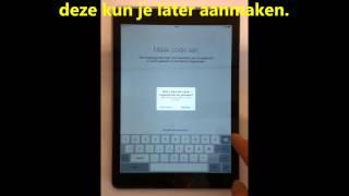 Eerste stappen iPad installeren