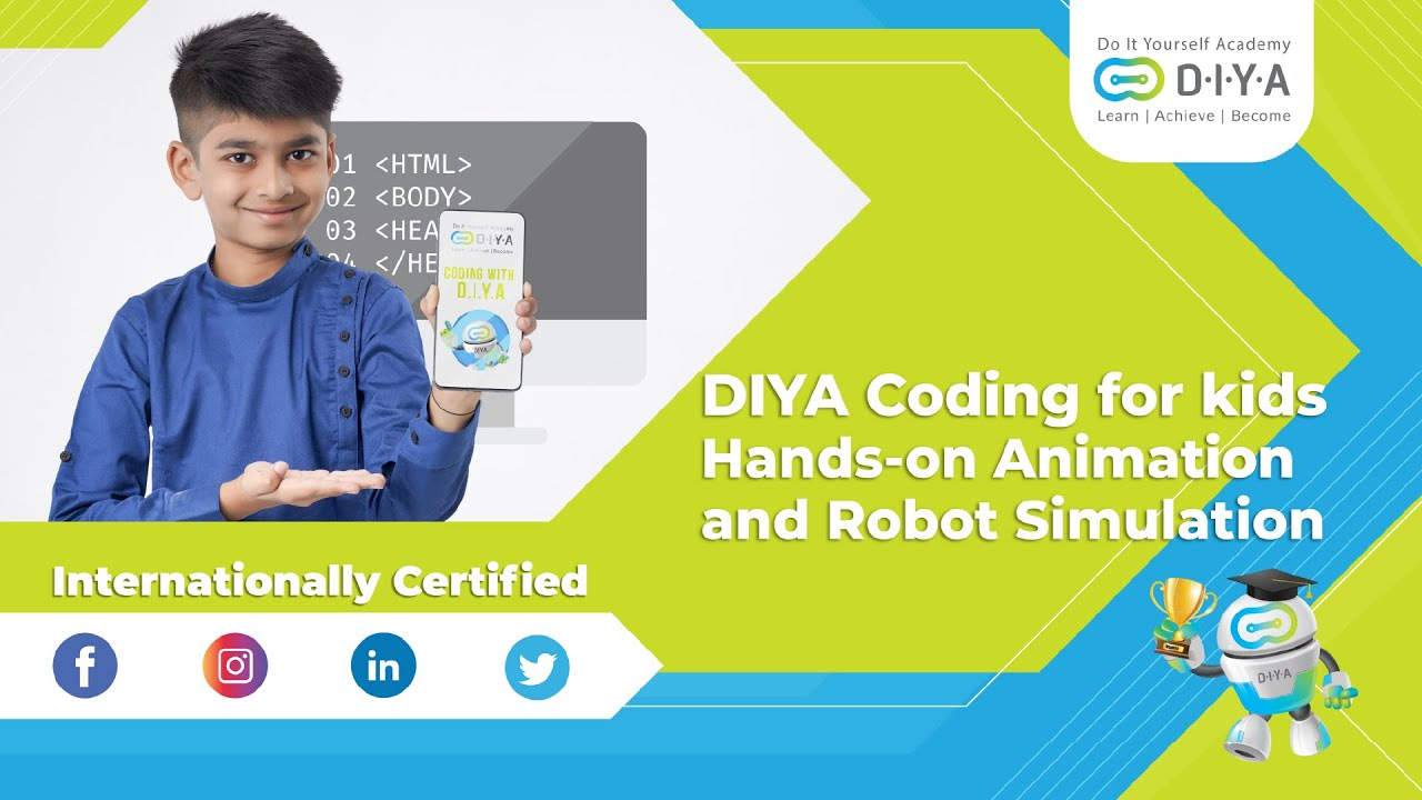Hands-on Animation and Game Designing | Internationally Certified | DIYA Coding for kids