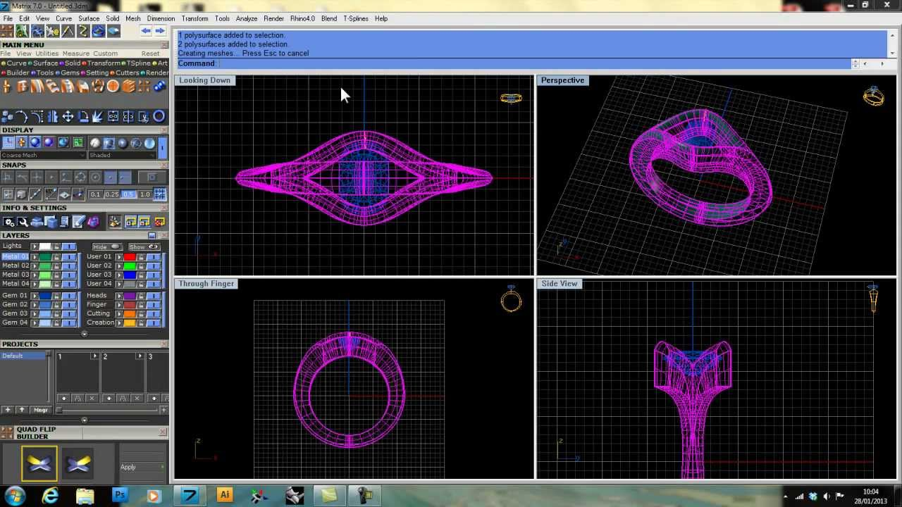 Using Gemvision Matrix's Custom Ring Rail Builder to Make