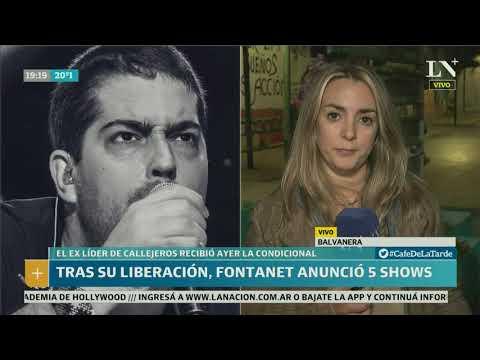 Tras su liberación, Fontanet anunció 5 shows - Café de la Tarde
