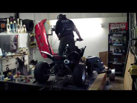 Honda TRX 700 XX making a Dyno Run