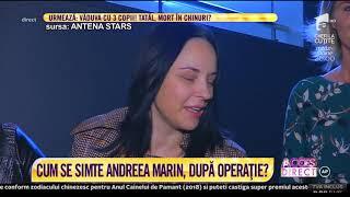 Andreea Marin, primele imagini după intervenția chirugicală! A fost operată la coloană