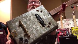 Campfire toaster reso guitar & aluminum baking pan