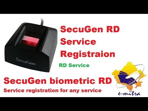 SecuGen RD Service Registration for any service Secugen biometric sevice RD  Serivce registration