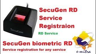 SecuGen RD Service Registration for any service Secugen biometric sevice RD Serivce registration screenshot 4
