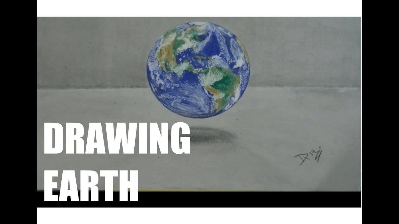 Drawing earthdrawing by damián riestra youtube