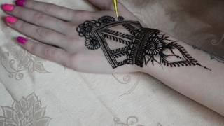 Роспись хной в Хмельницком, мехенди на руке. Обучение, мастер классы