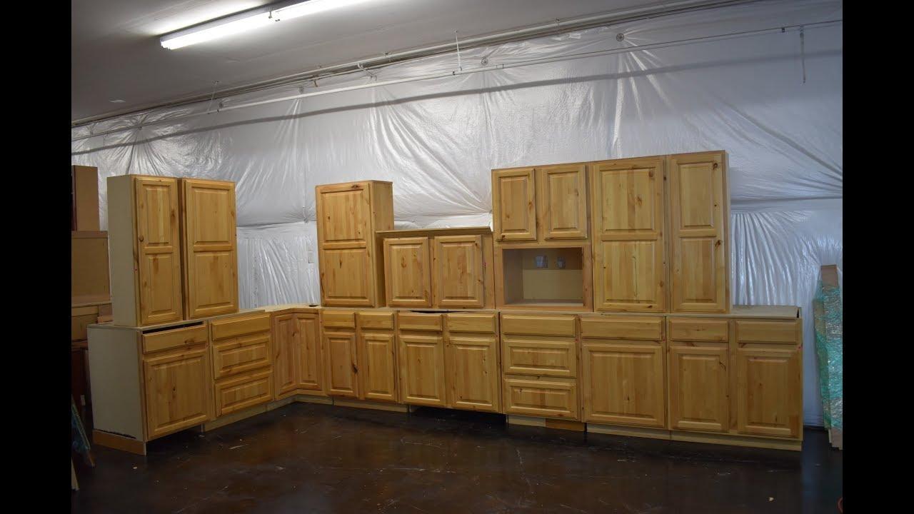 Knotty Birch Kitchen Cabinet
