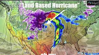 """Leading edge of Giant """"Land Based Hurricane"""" producing Blue and Red flashes in Dallas thumbnail"""