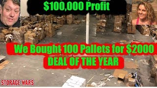 $100,000 PROFIT We Bought 100 Amazon Pallets for $2000 Storage Wars